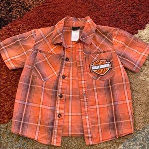 Harley Davidson Kids 3T button up
